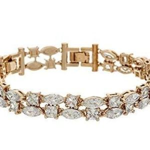 Grace Kelly 2 Row Diamond Tennis Bracelet